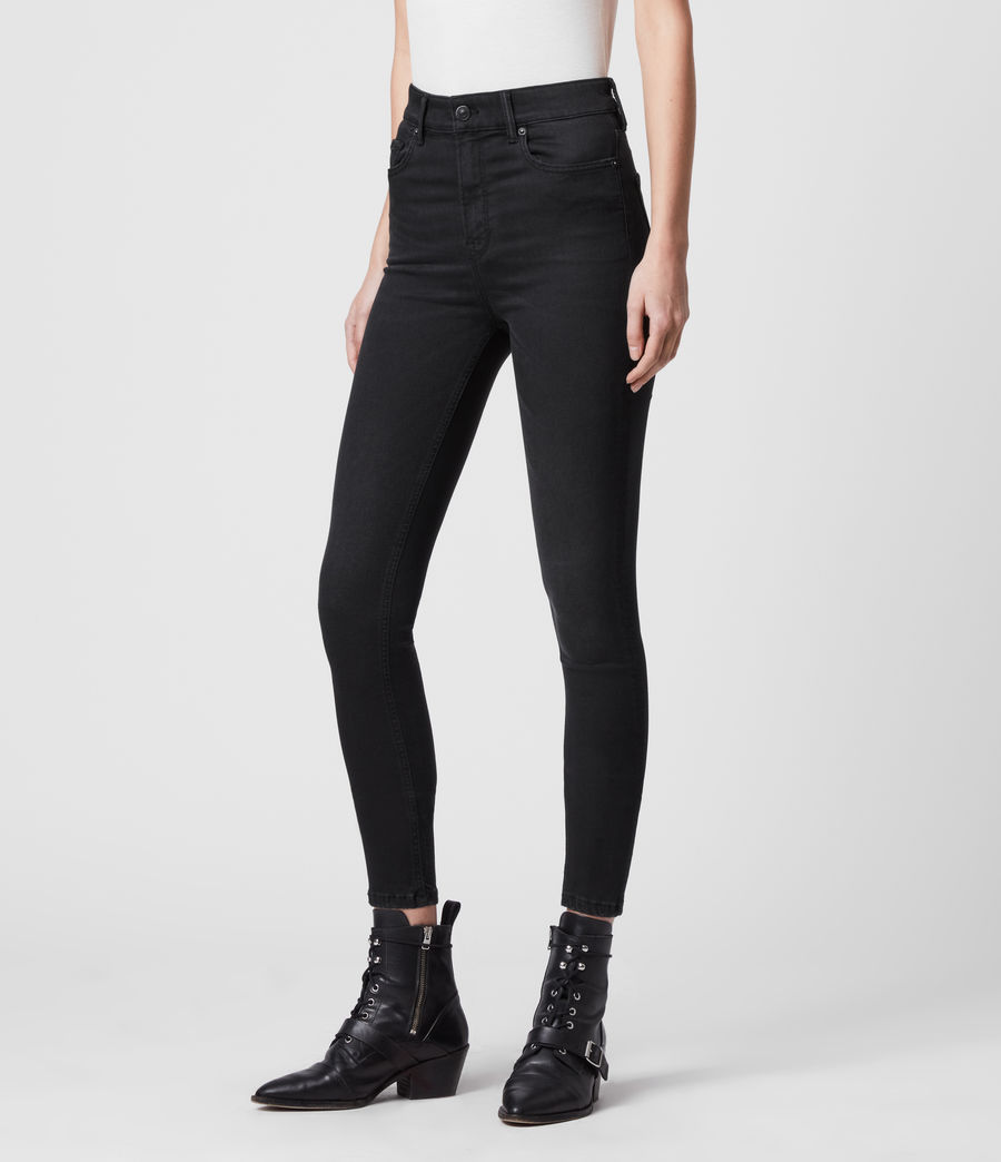 Womens Dax High-Rise Superstretch Skinny Jeans, Black (black) - Image 4