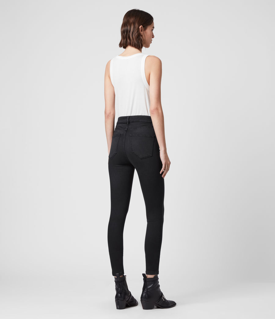 Mujer Dax High-Rise Superstretch Skinny Jeans, Black (black) - Image 5