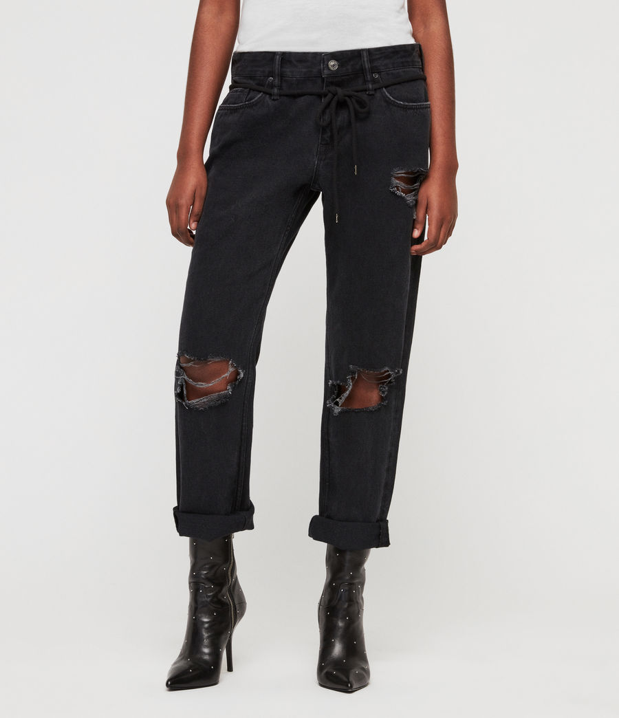 Mujer Jeans Alana Boyfriend (washed_black) - Image 1