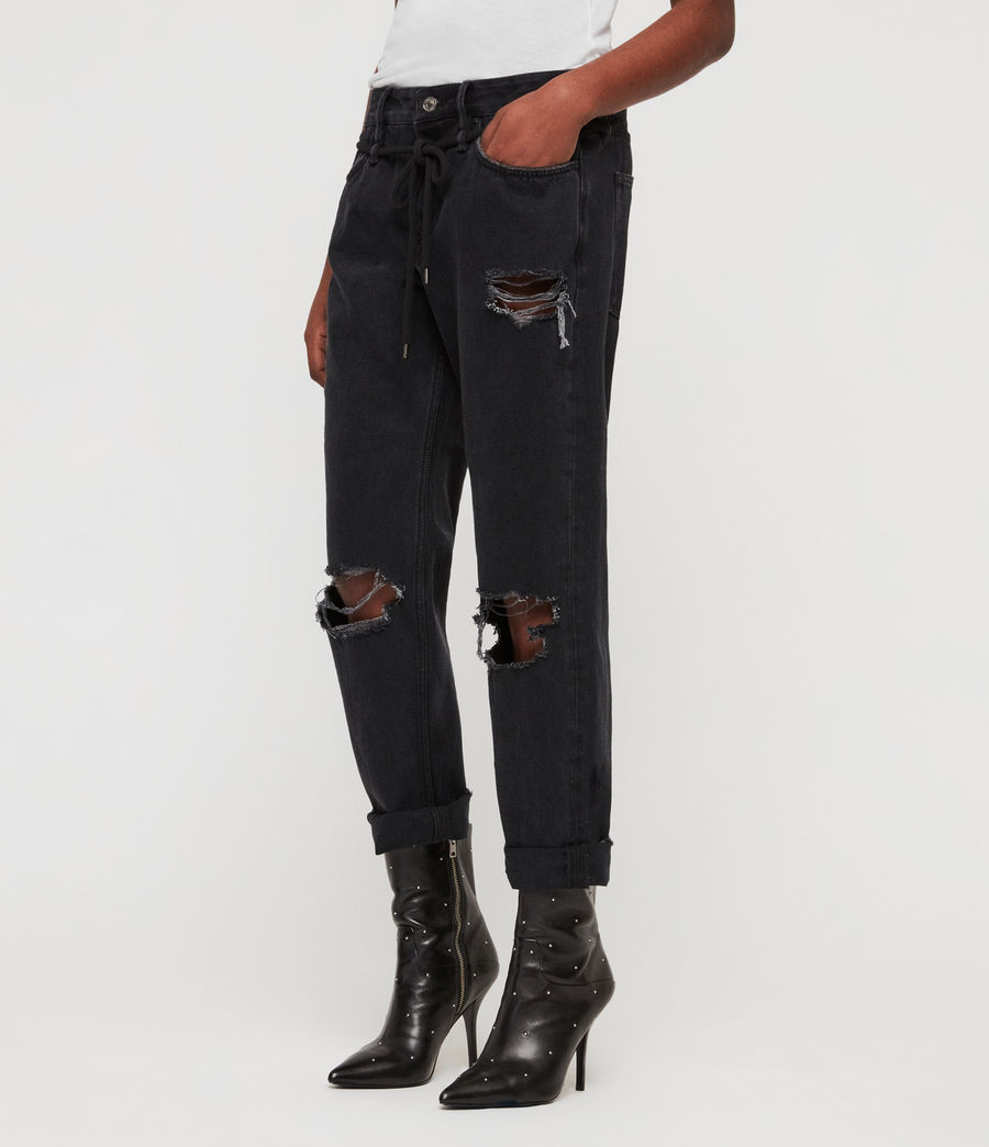 Women's Alana Boyfriend Jeans (washed_black) - Image 2