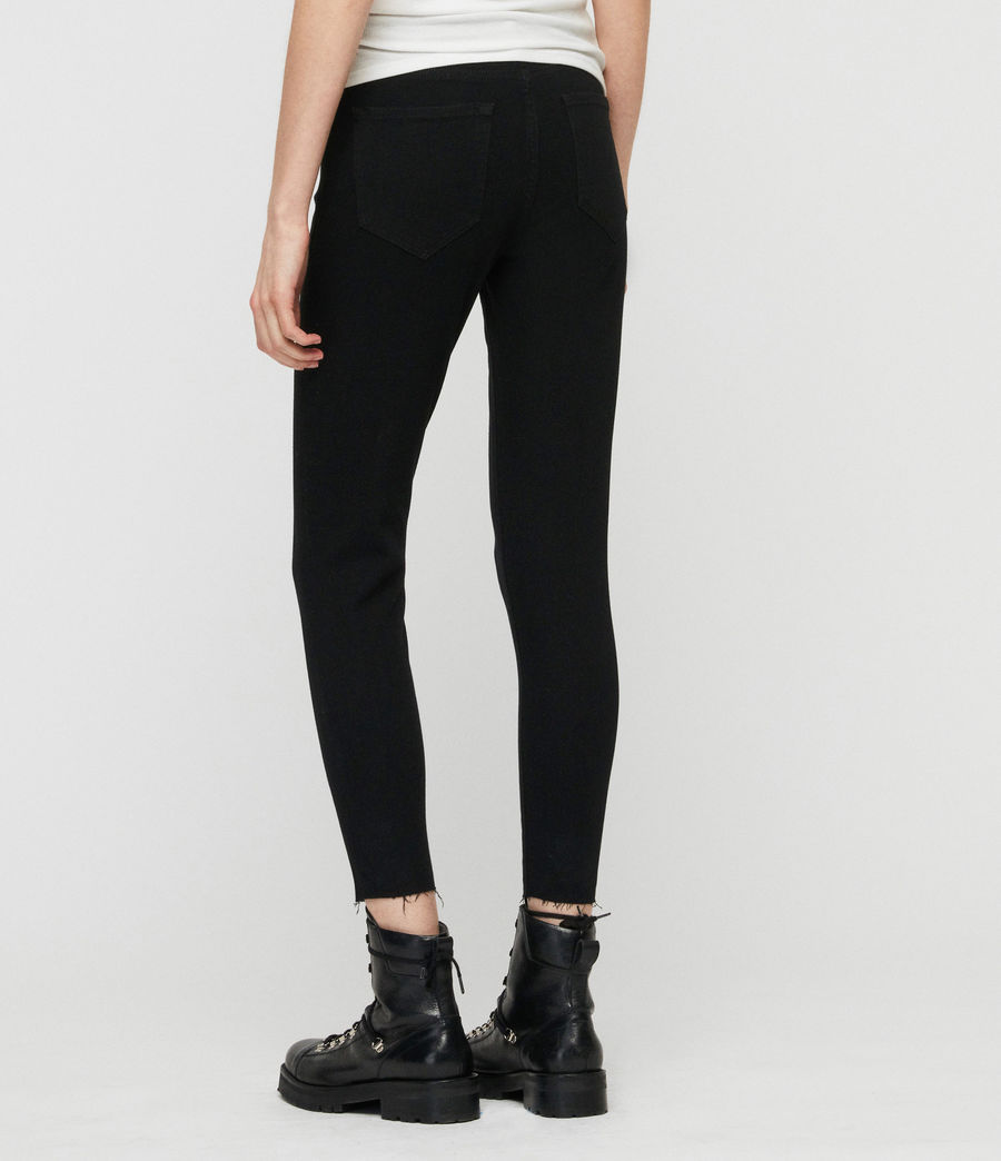Womens Grace Bistretch Ankle Skinny Jeans (black) - Image 6