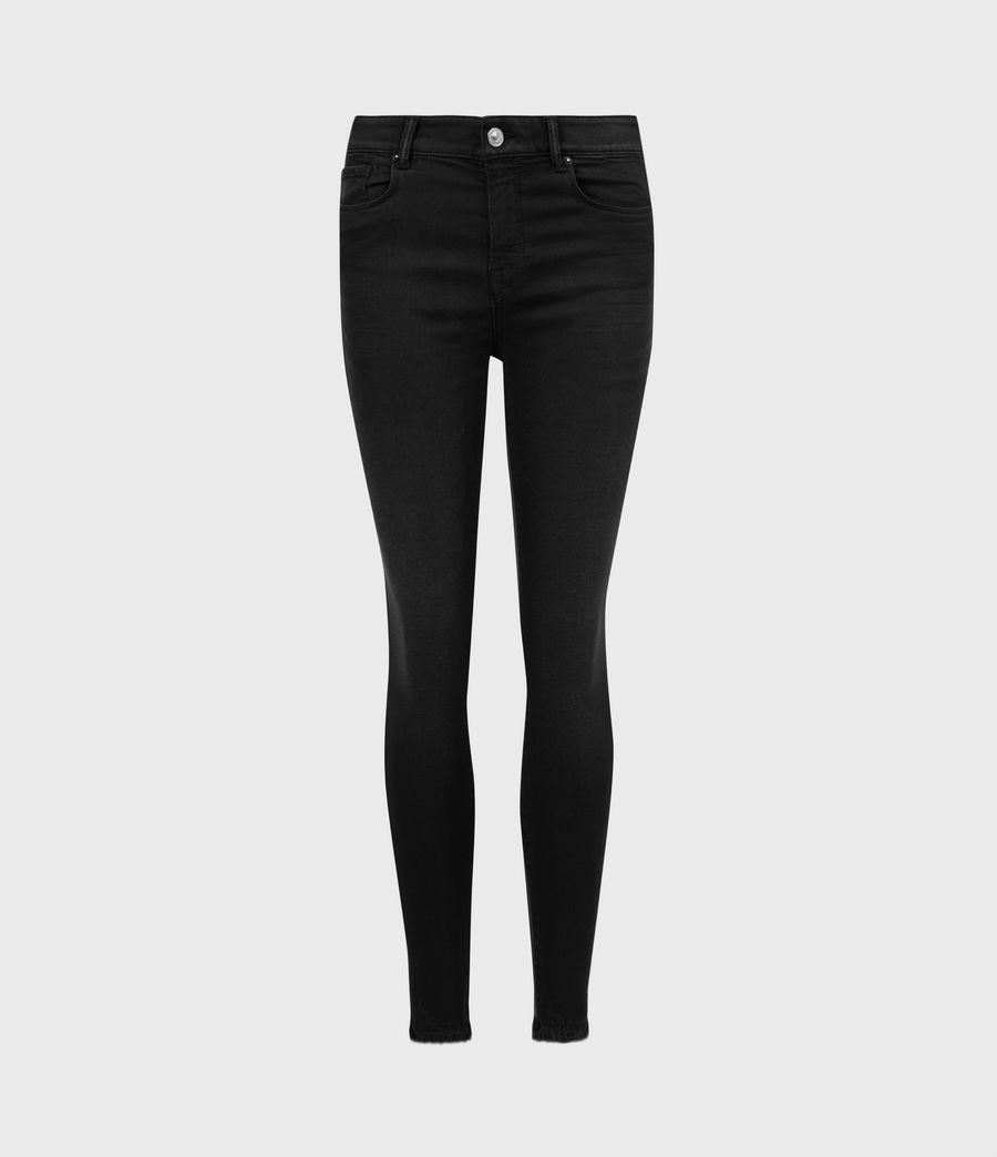 Womens Miller Ankle Mid-Rise Superstretch Skinny Jeans, Black (black) - Image 2