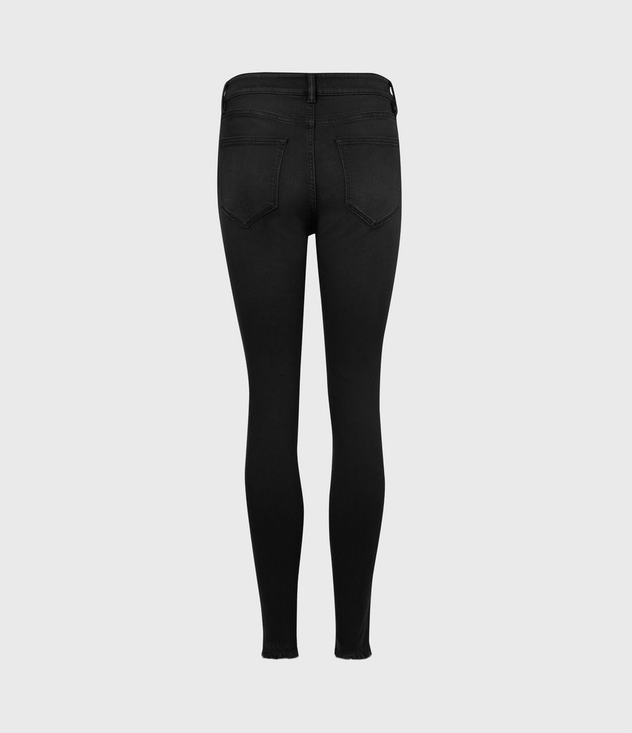 Womens Miller Ankle Mid-Rise Superstretch Skinny Jeans, Black (black) - Image 3