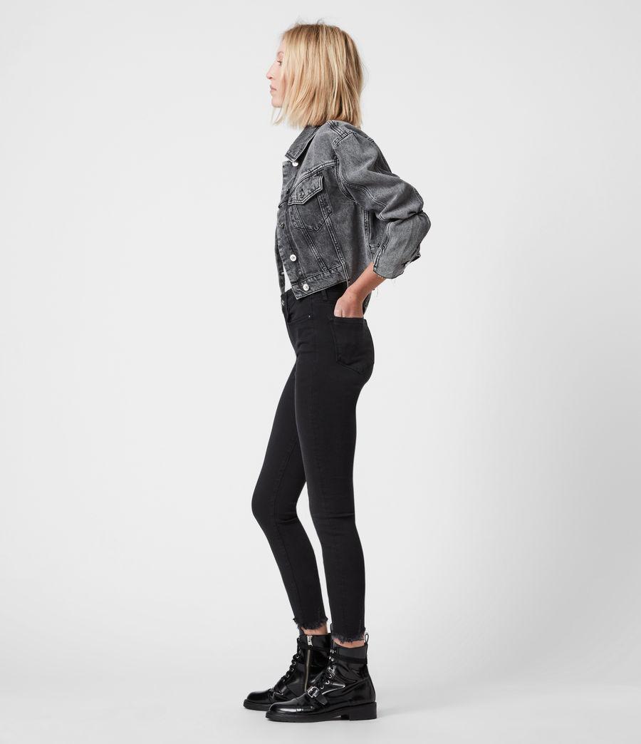 Women's Miller Ankle Mid-Rise Superstretch Skinny Jeans, Black (black) - Image 6