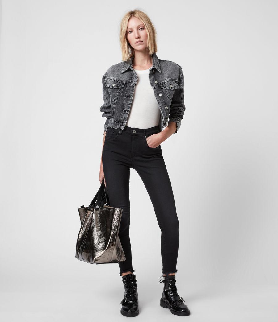 Women's Miller Ankle Mid-Rise Superstretch Skinny Jeans, Black (black) - Image 7