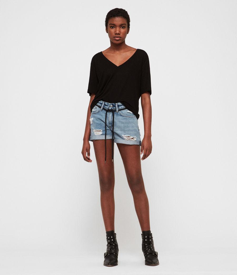 Womens Blaire Boyfriend Denim Shorts (indigo_blue) - Image 1