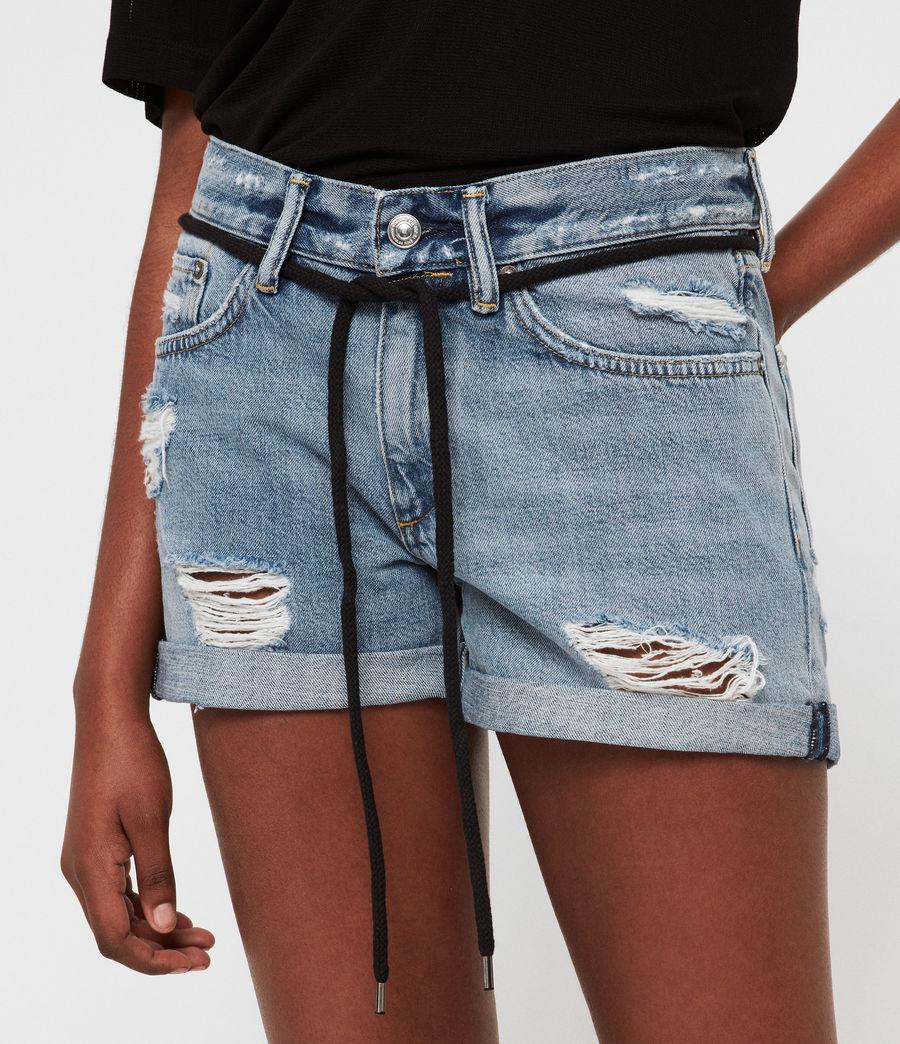Womens Blaire Boyfriend Mid-Rise Denim Shorts (indigo_blue) - Image 3