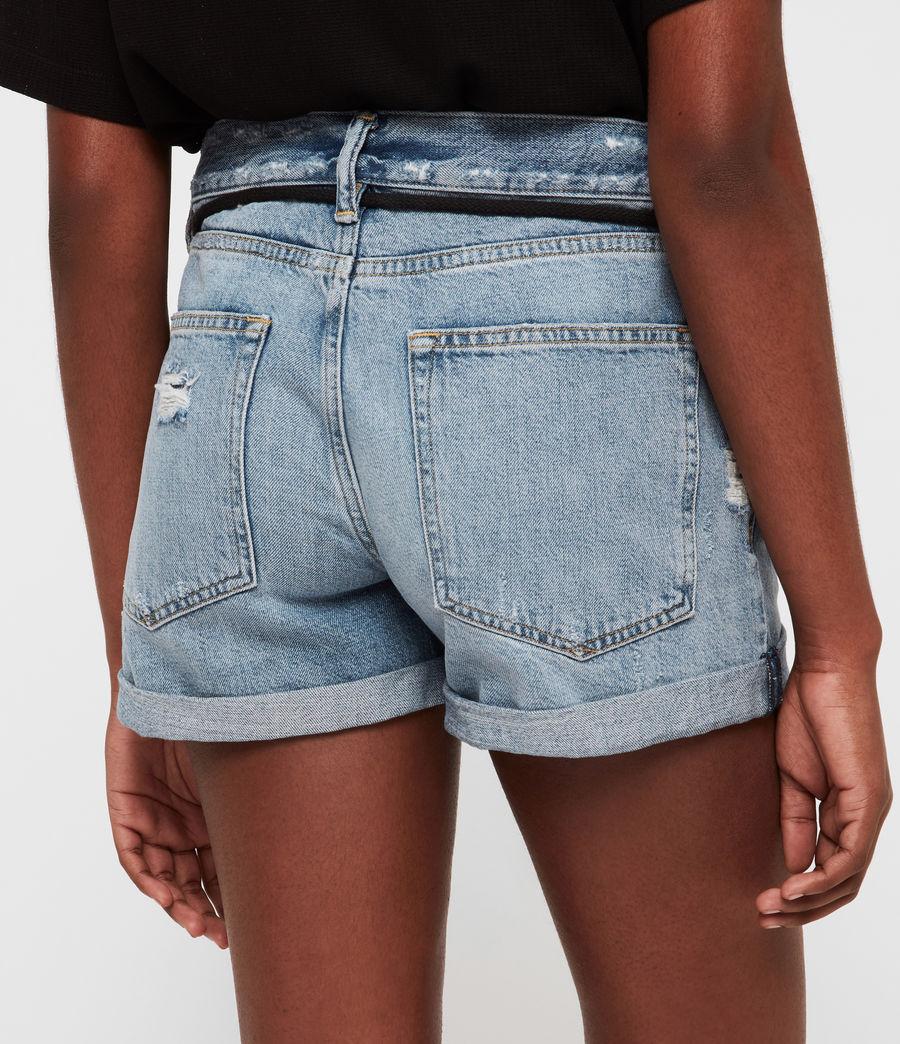 Womens Blaire Boyfriend Mid-Rise Denim Shorts (indigo_blue) - Image 4