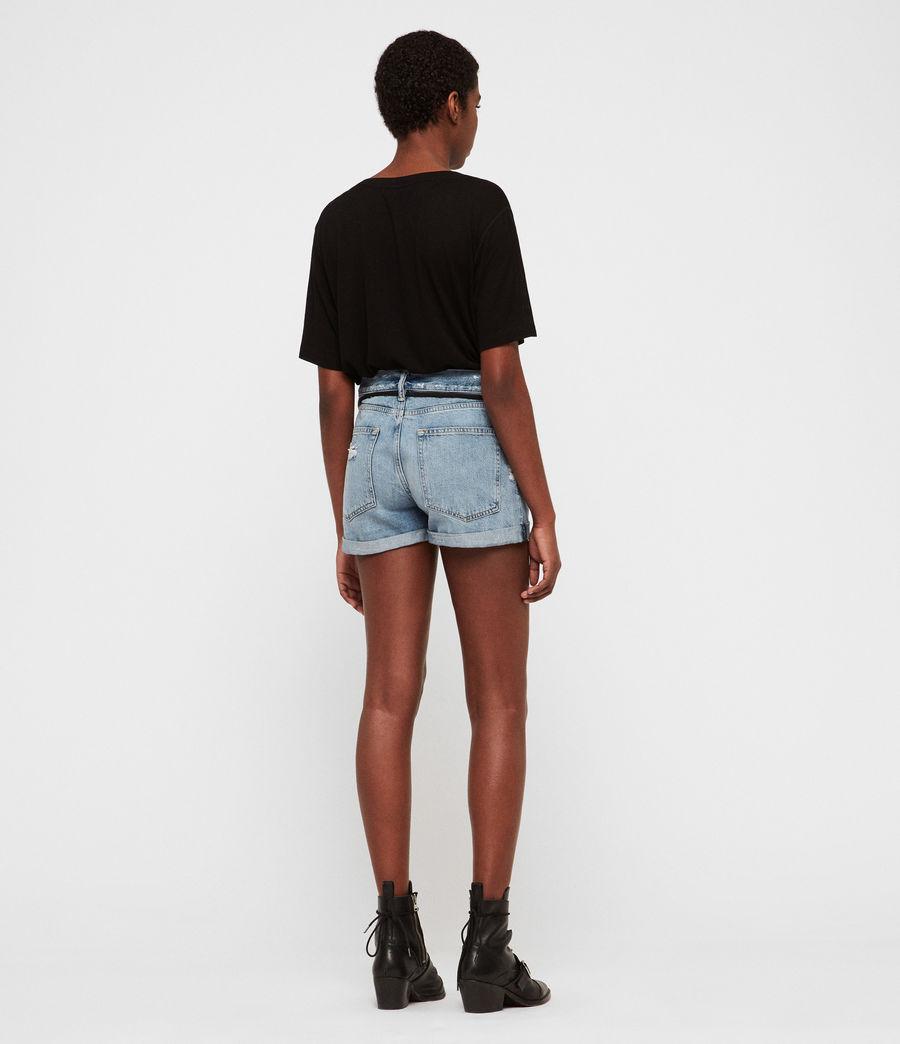 Womens Blaire Boyfriend Denim Shorts (indigo_blue) - Image 5