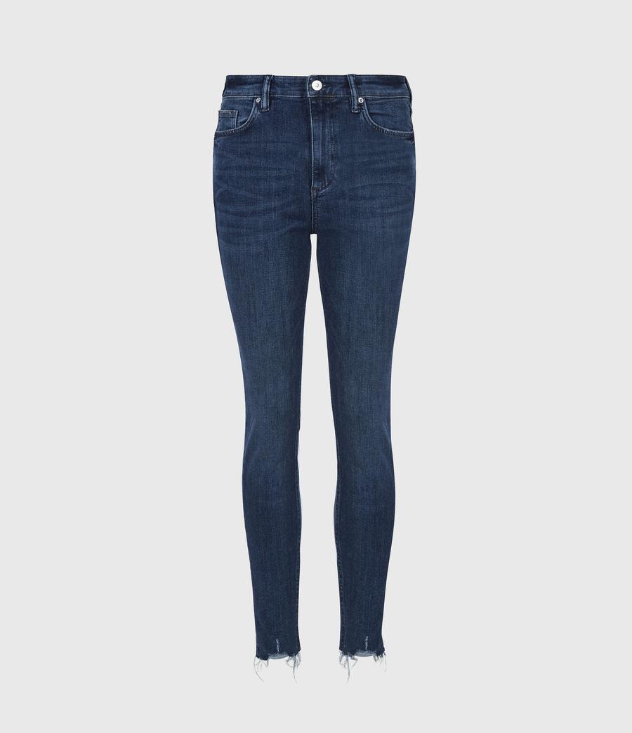 Women's Sadie Sky High Superstretch Skinny Jeans, Dark Indigo (dark_indigo) - Image 2