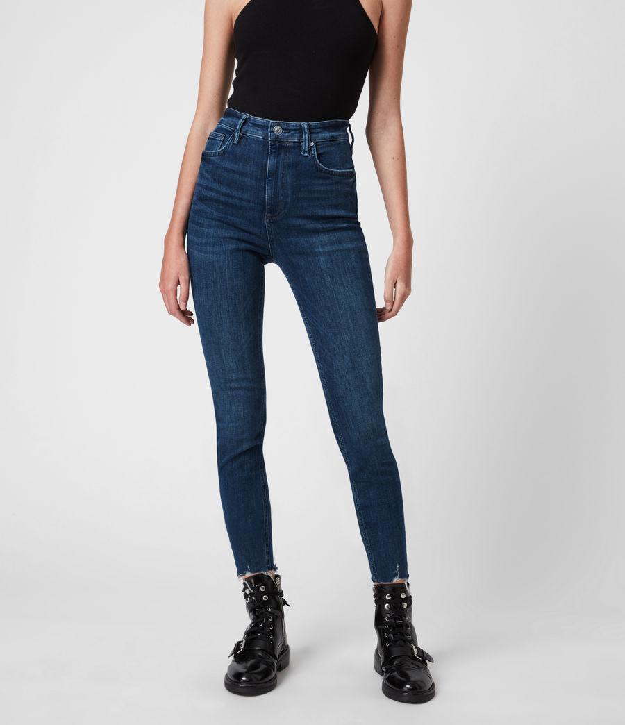 Women's Sadie Sky High Superstretch Skinny Jeans, Dark Indigo (dark_indigo) - Image 4