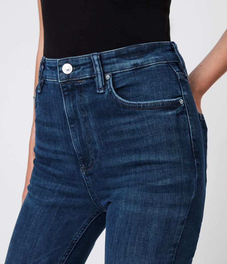 Women's Sadie Sky High Superstretch Skinny Jeans, Dark Indigo (dark_indigo) - Image 6