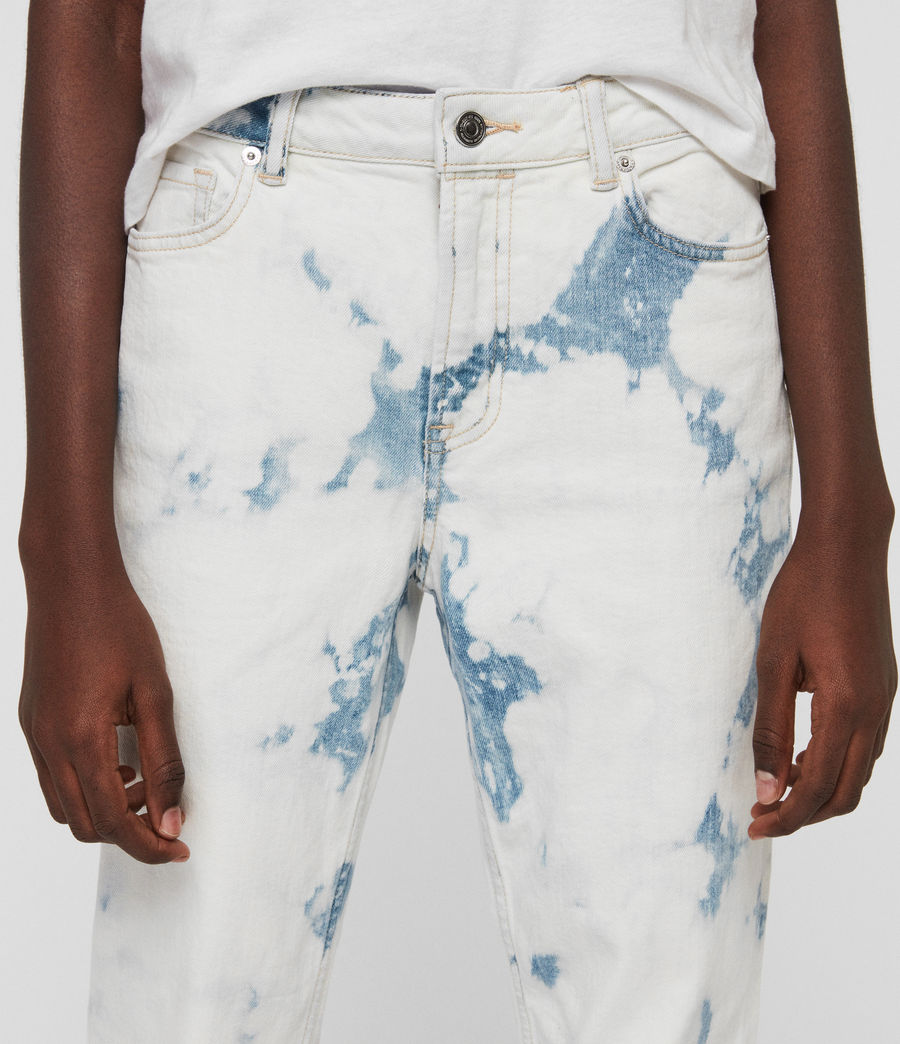 Women's Ava Straight High-Rise Jeans, Punk Bleach Blue (punk_bleach_blue) - Image 3