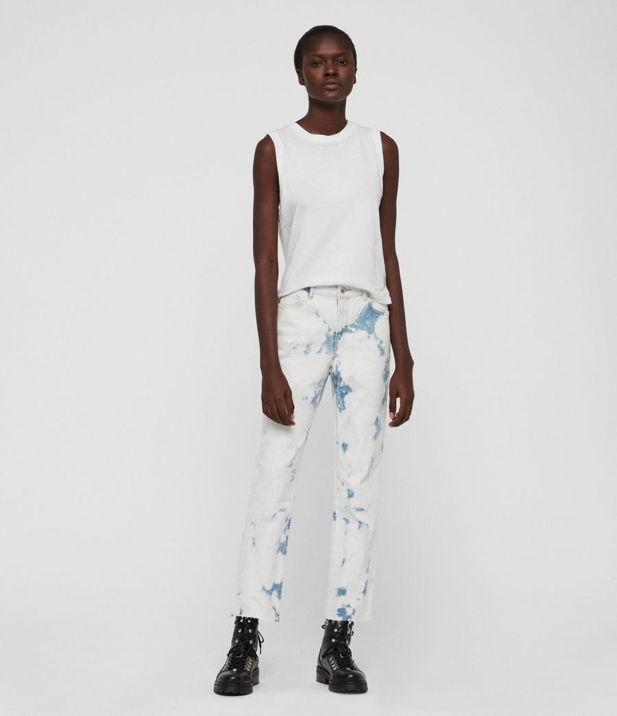 Women's Ava Straight High-Rise Jeans, Punk Bleach Blue (punk_bleach_blue) - Image 4