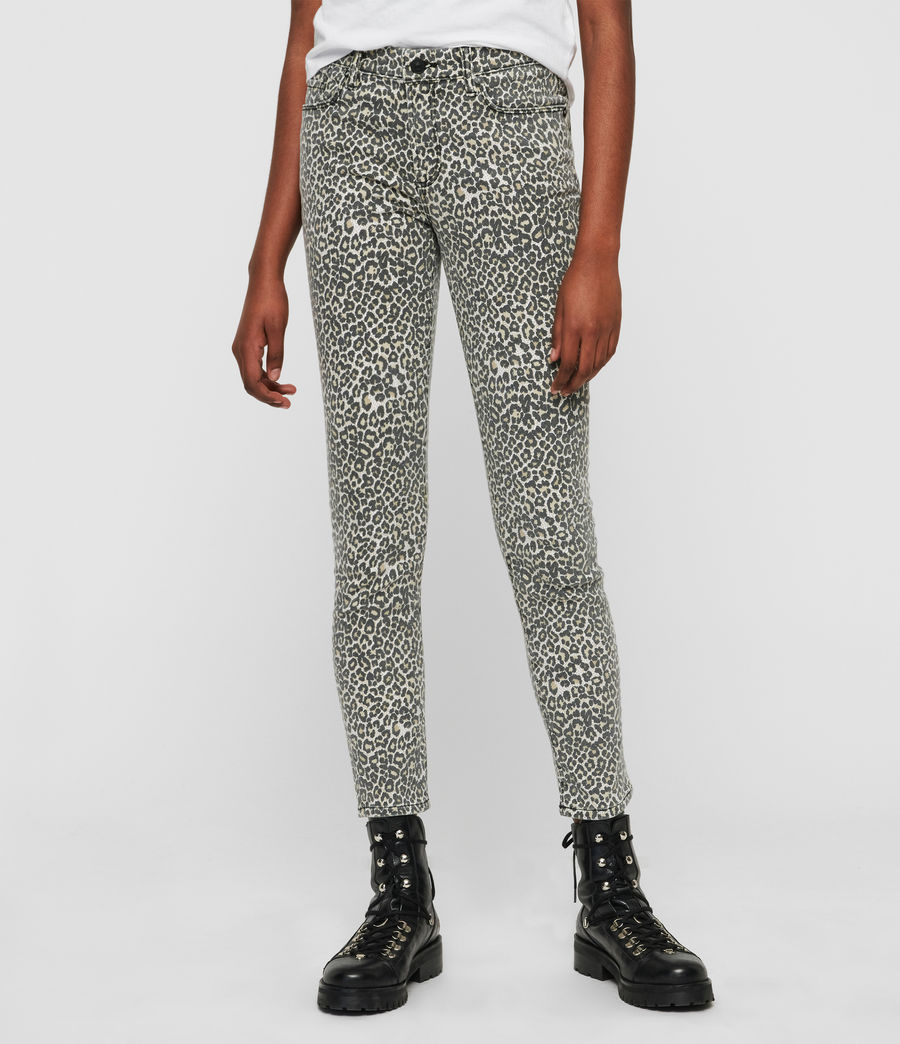 Womens Grace Ankle Skinny Jeans (leopard) - Image 1