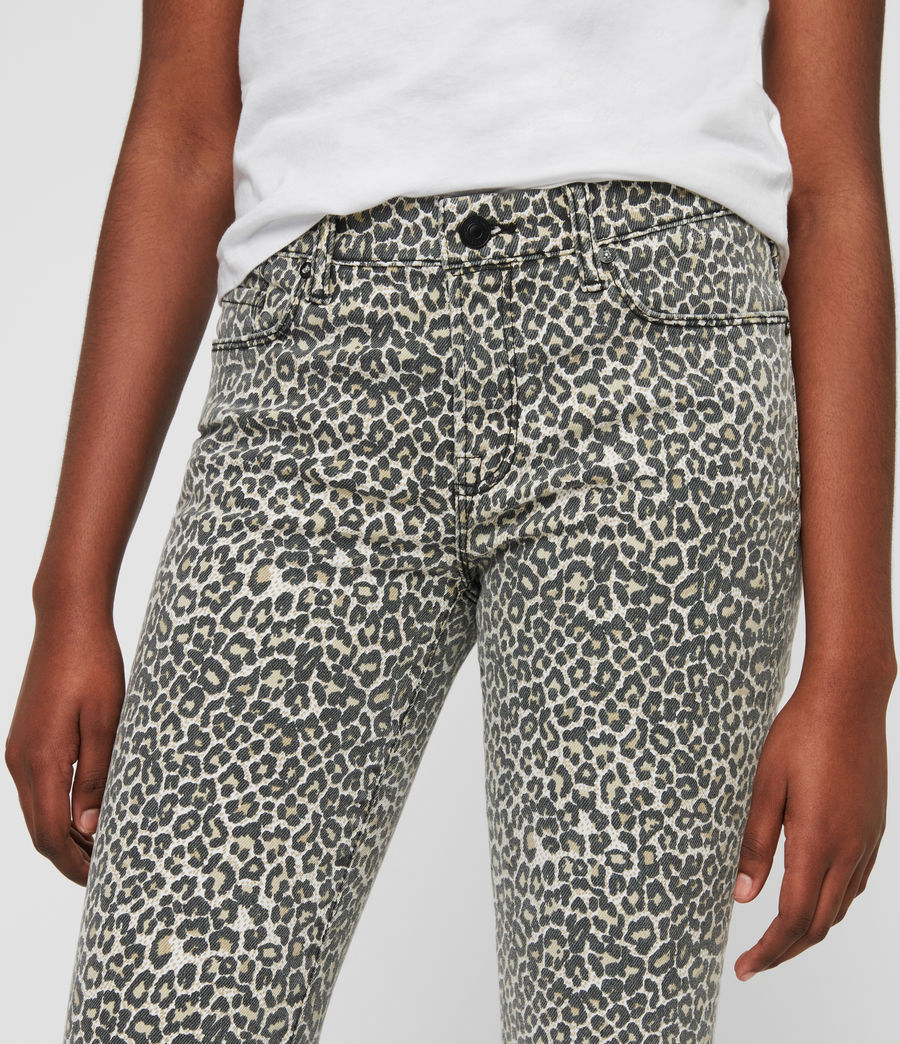 Womens Grace Ankle Skinny Jeans (leopard) - Image 3