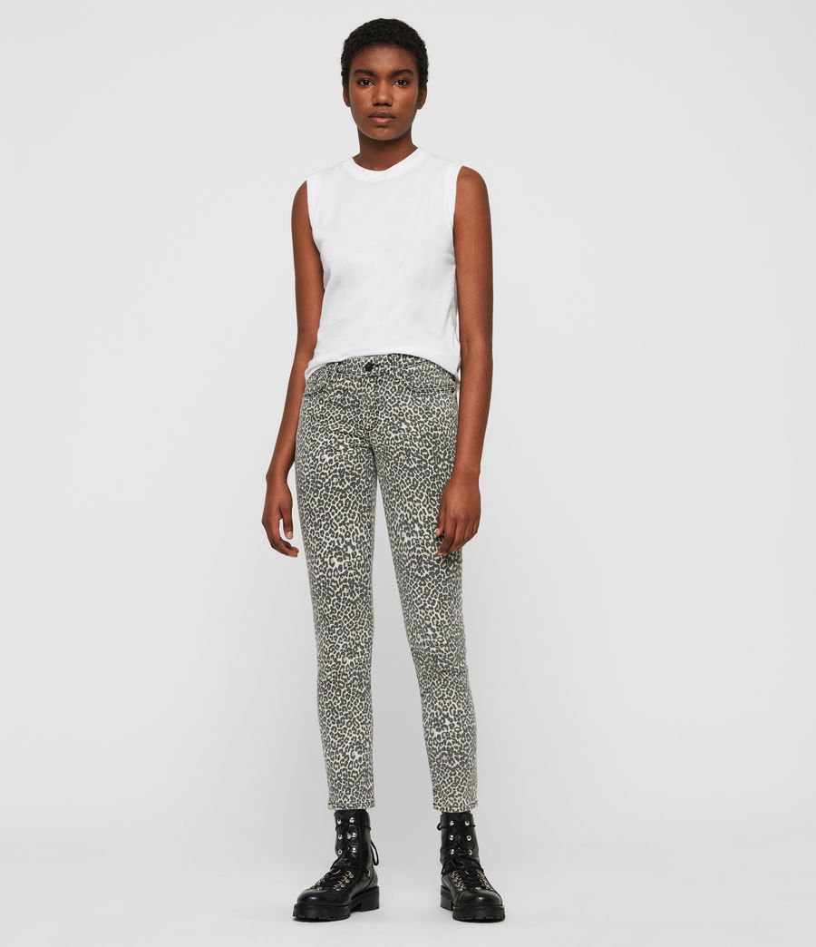 Womens Grace Ankle Skinny Jeans (leopard) - Image 4