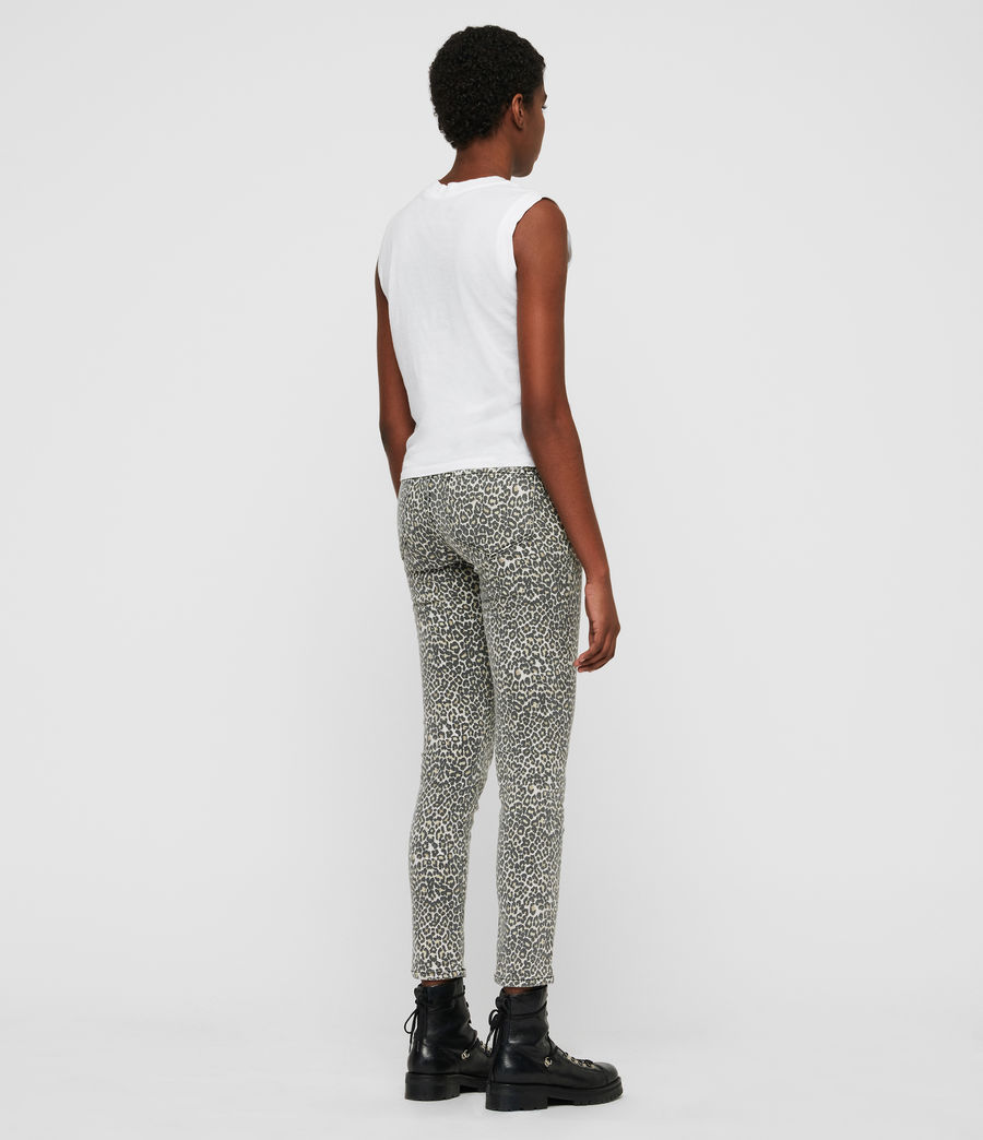 Womens Grace Ankle Skinny Jeans (leopard) - Image 5