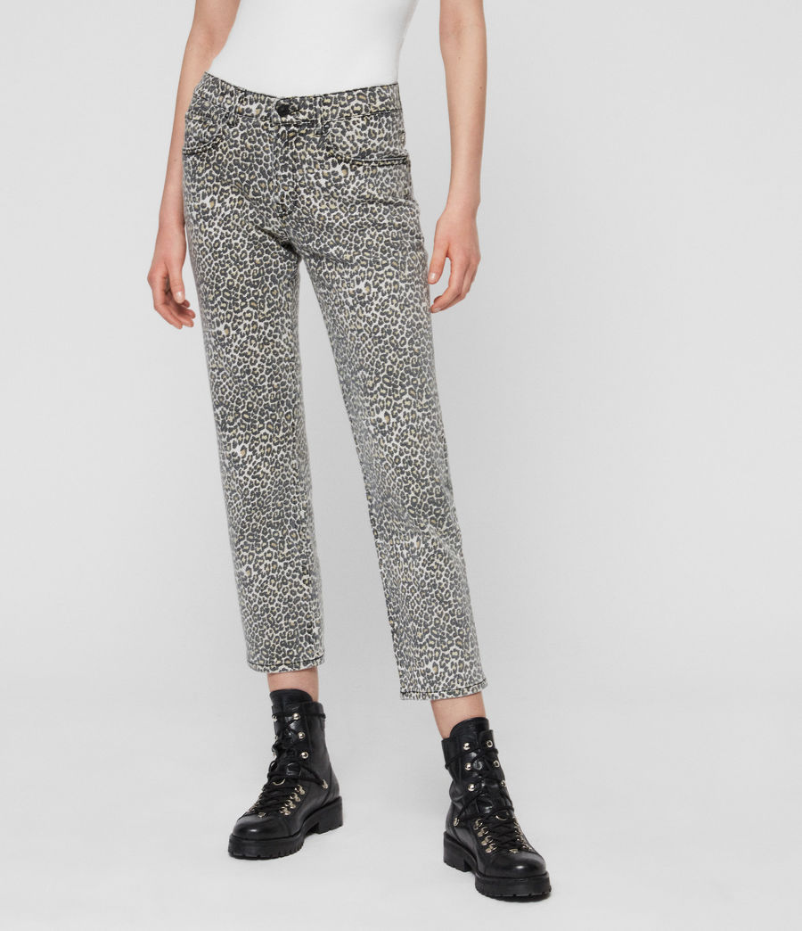 Women's Ava Straight High-Rise Jeans, Leopard Print (leopard) - Image 1