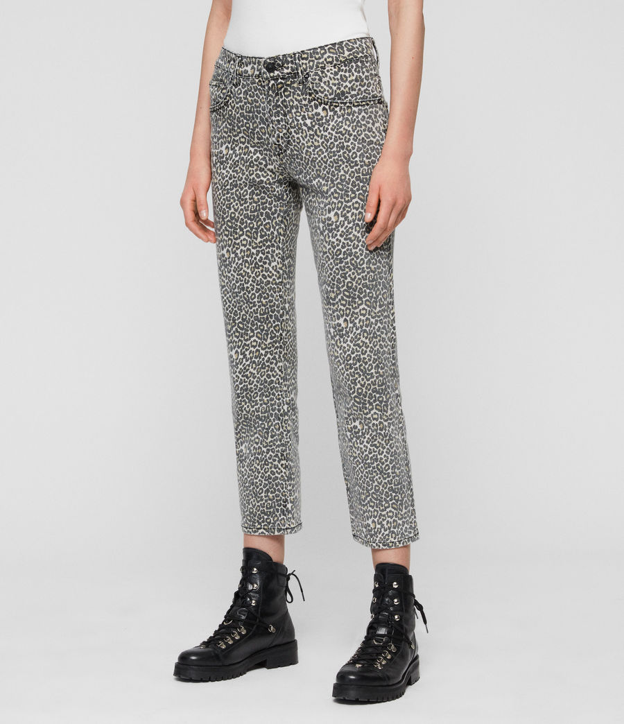 Women's Ava Straight High-Rise Jeans, Leopard Print (leopard) - Image 2