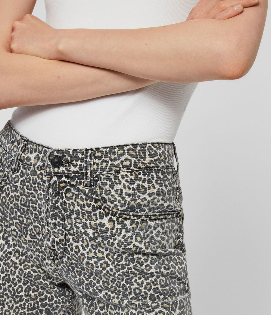 Women's Ava Straight High-Rise Jeans, Leopard Print (leopard) - Image 3