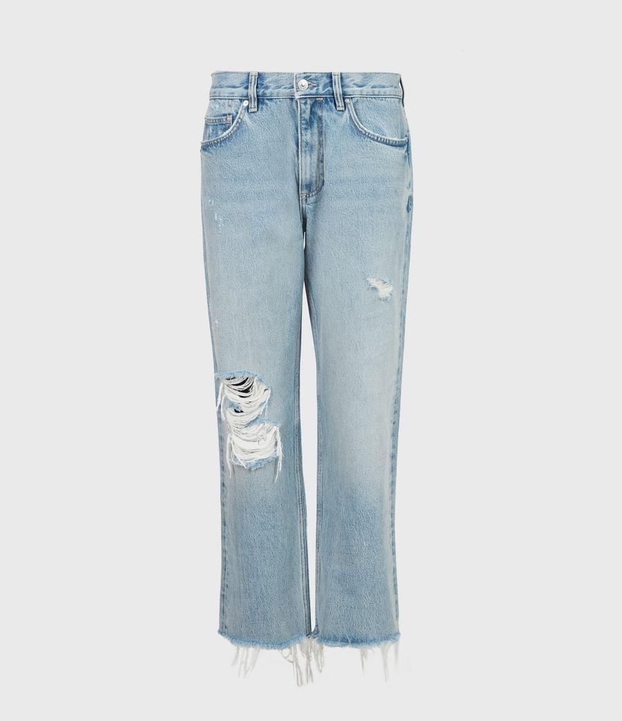 Women's April High-Rise Boyfriend Jeans, Light Indigo (light_indigo) - Image 2