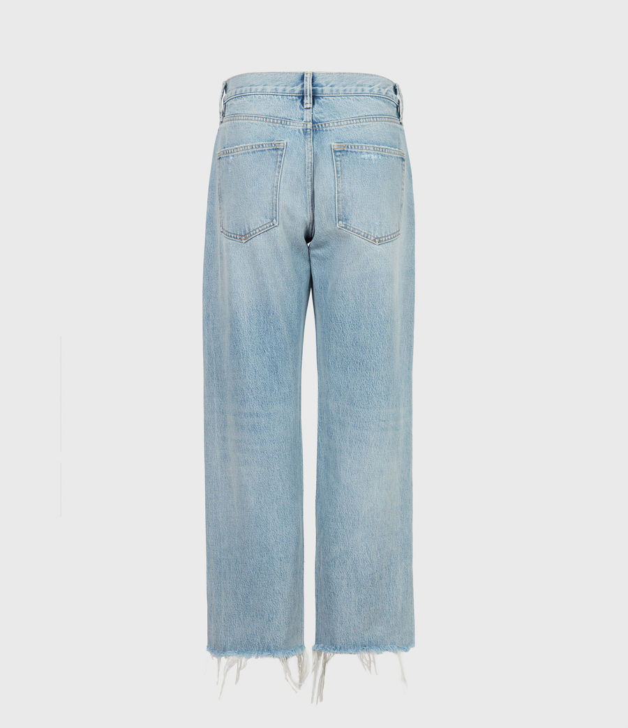 Women's April High-Rise Boyfriend Jeans, Light Indigo (light_indigo) - Image 3