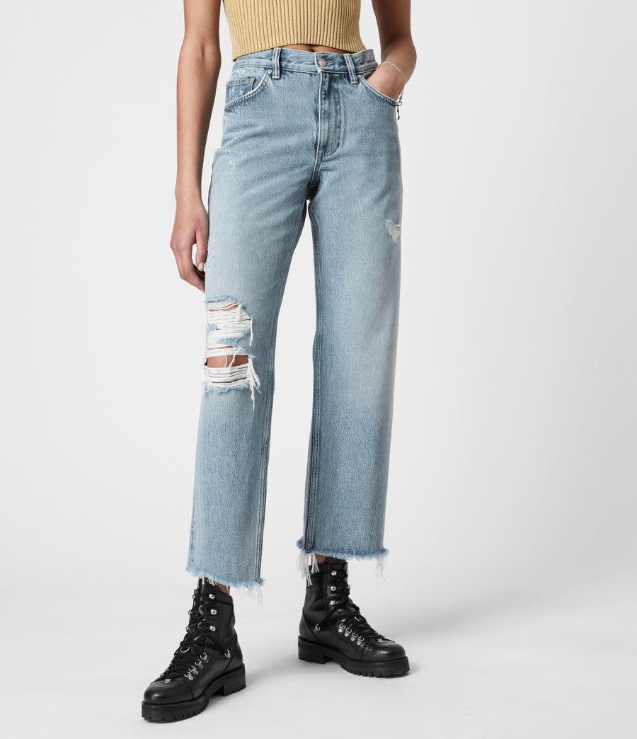 Women's April High-Rise Boyfriend Jeans, Light Indigo (light_indigo) - Image 4