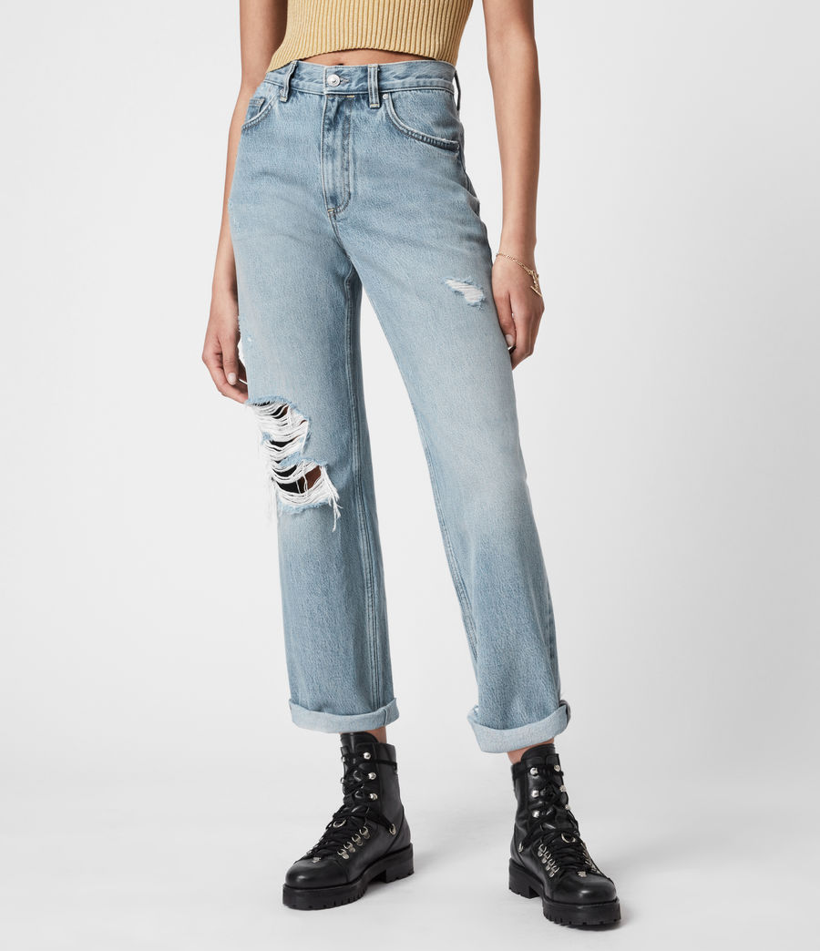 Women's April High-Rise Boyfriend Jeans, Light Indigo (light_indigo) - Image 7
