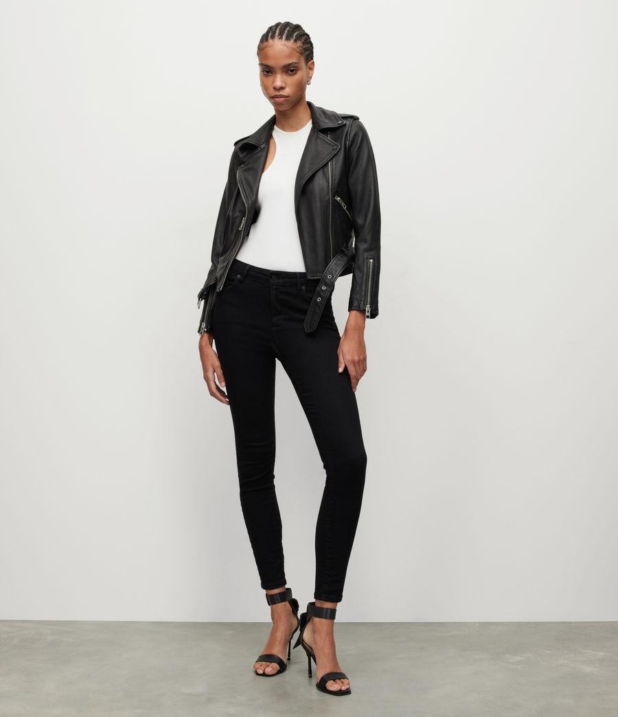 Women's Miller Mid-Rise Size Me Jeans, Black (black) - Image 1