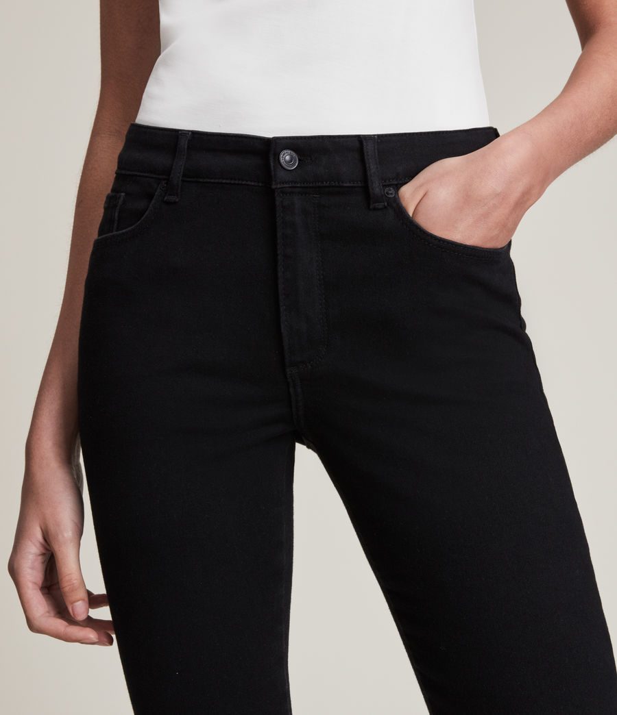 Women's Miller Mid-Rise Size Me Jeans, Black (black) - Image 5
