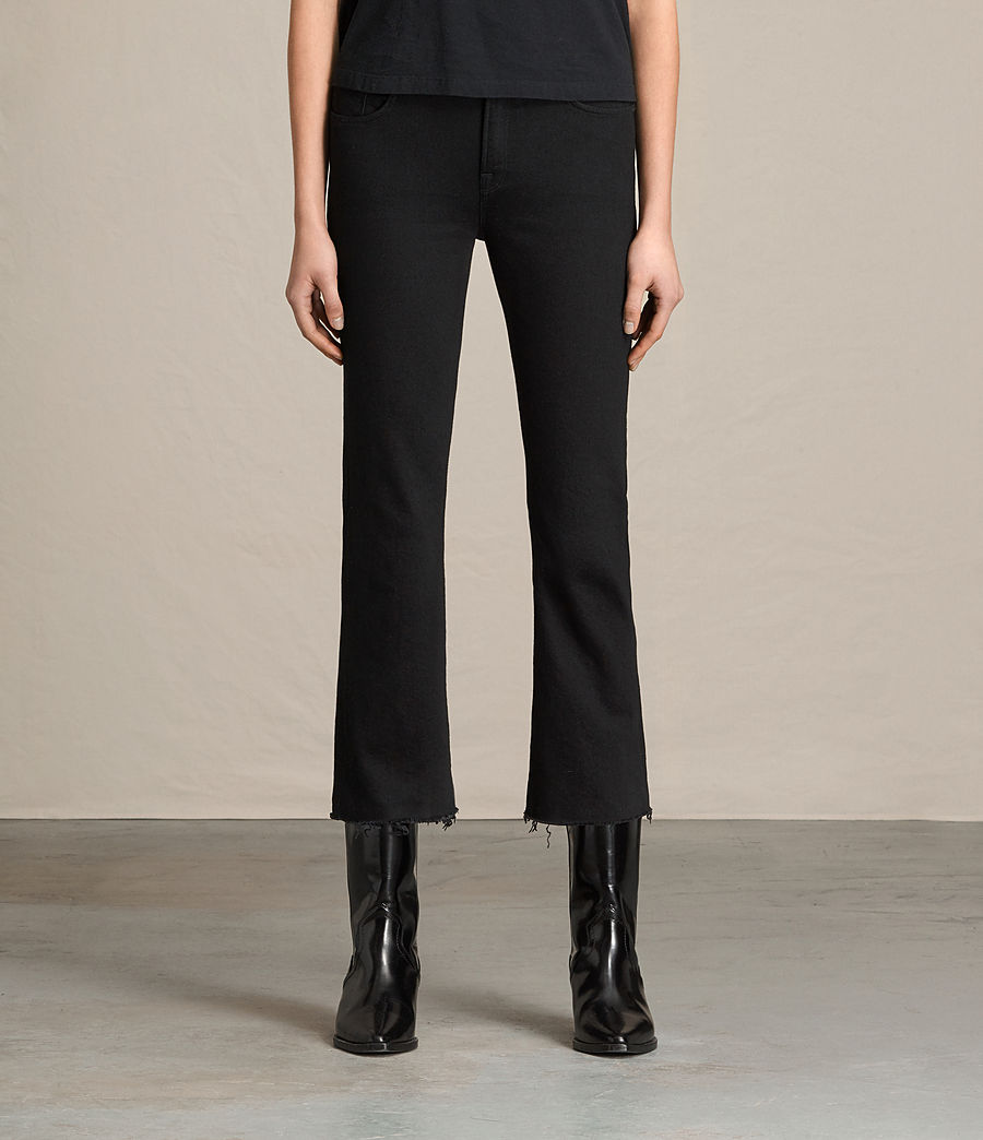 Donne Jeans Zoe Cropped Bootcut (jet_black) - Image 1
