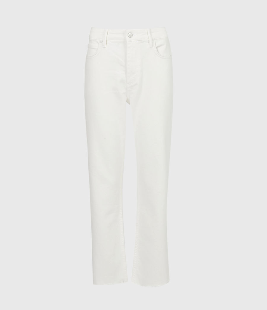 Damen Barely Cropped Schlaghose Jeans (natural_white) - Image 2