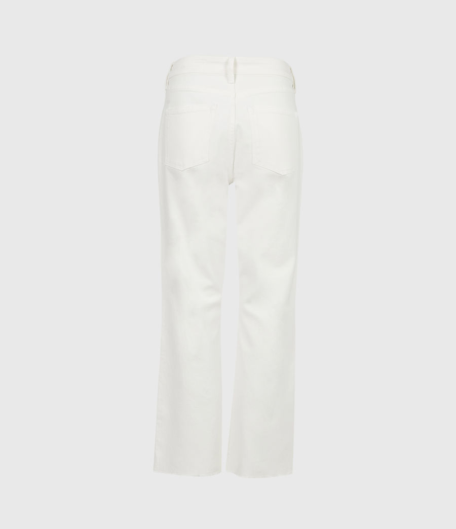 Damen Barely Cropped Schlaghose Jeans (natural_white) - Image 3