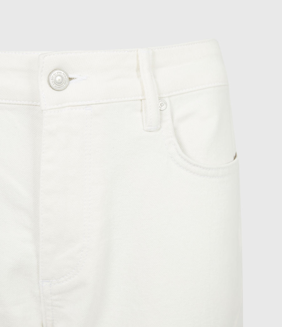 Damen Barely Cropped Schlaghose Jeans (natural_white) - Image 5