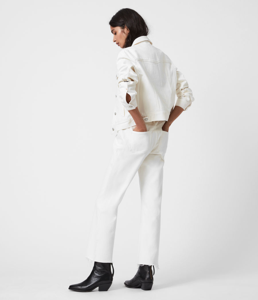 Damen Barely Cropped Schlaghose Jeans (natural_white) - Image 6