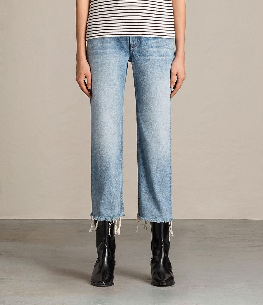 Femmes Jean bootcut Zoe court (indigo_blue) - Image 1