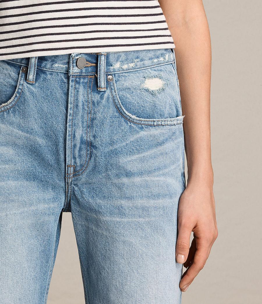 Damen Weite Mazzy Jeans mit Bootcut (indigo_blue) - Image 2