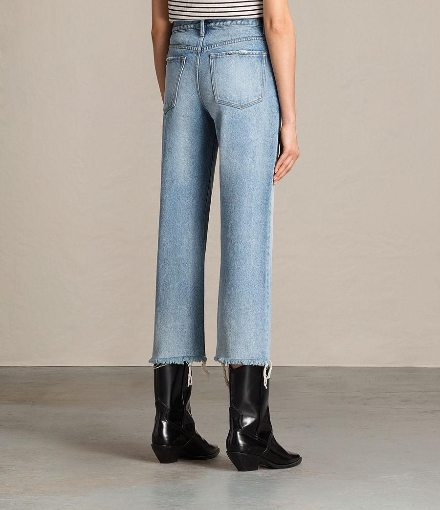 Damen Weite Mazzy Jeans mit Bootcut (indigo_blue) - Image 3