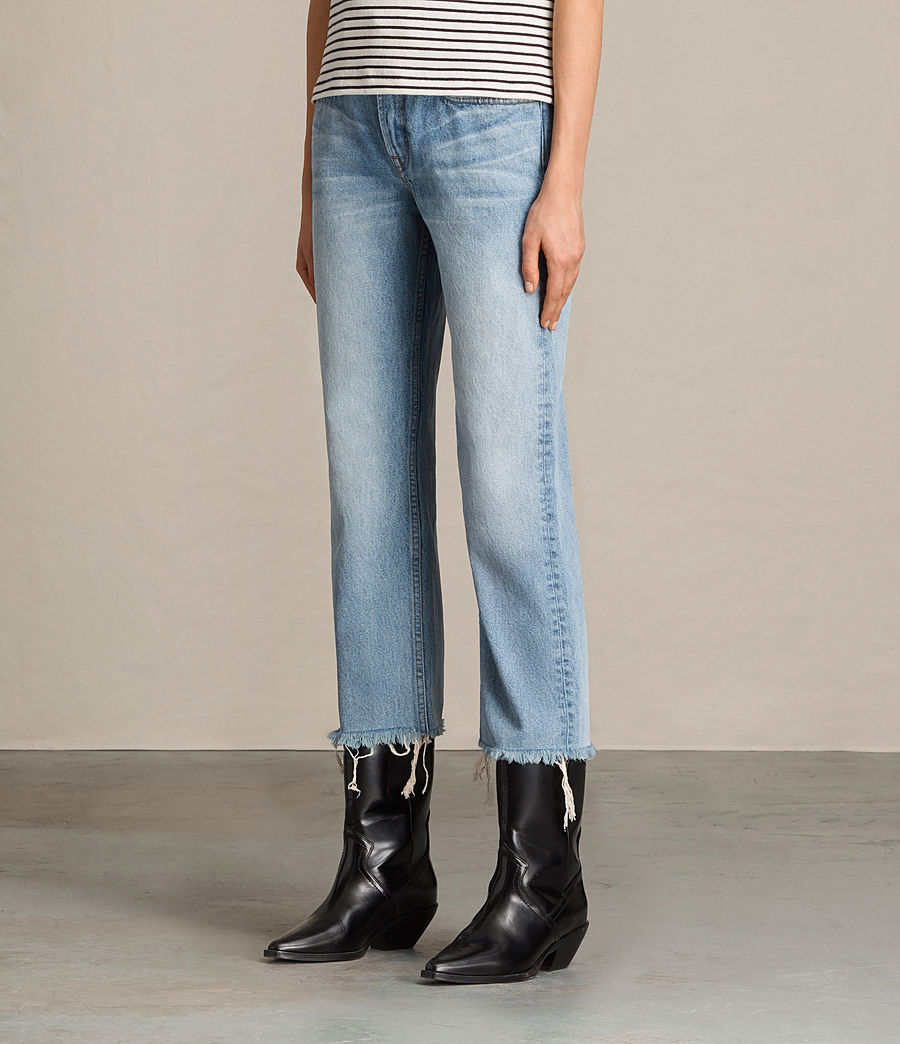 Damen Weite Mazzy Jeans mit Bootcut (indigo_blue) - Image 4