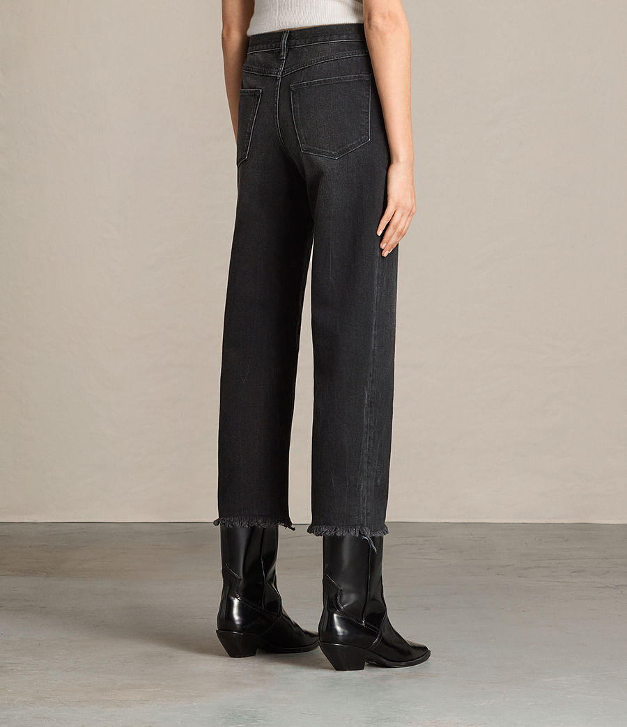 Femmes Jean bootcut Zoe court (washed_black) - Image 3