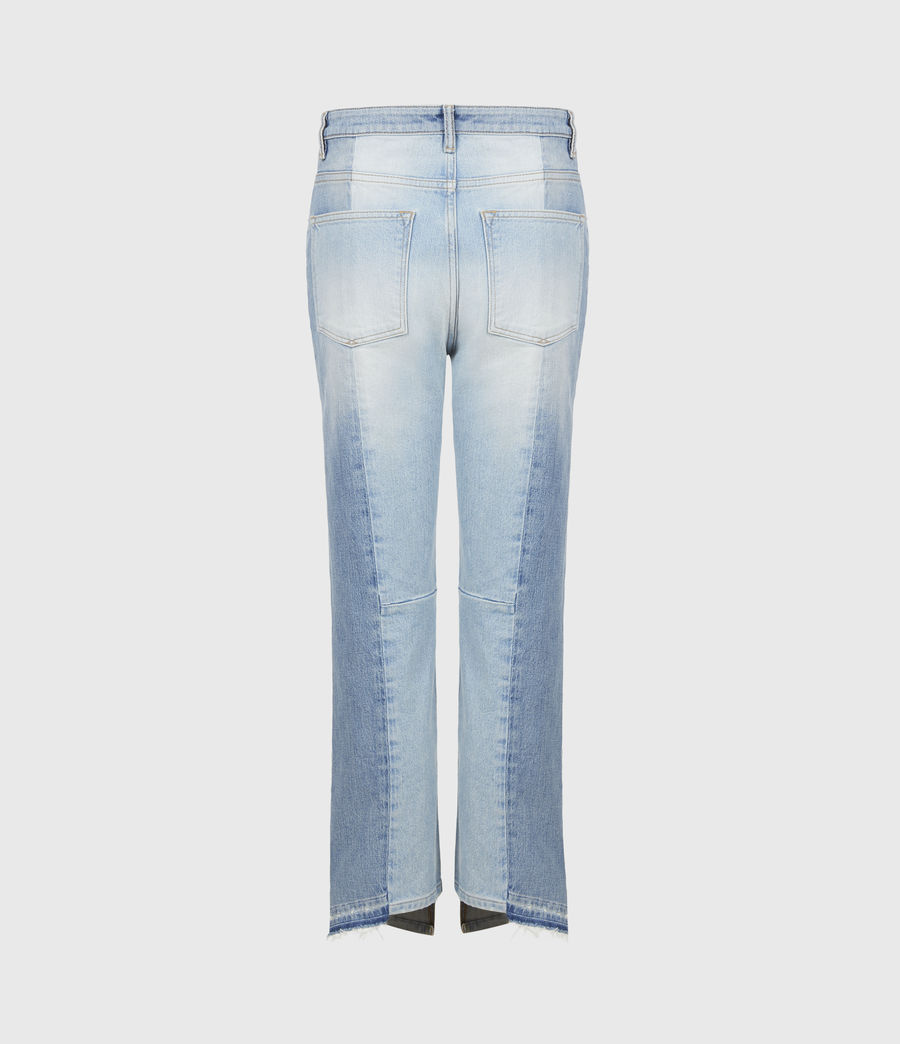 Womens Kim Two-Tone High-Rise Jeans, Mid Indigo (mid_indigo) - Image 3