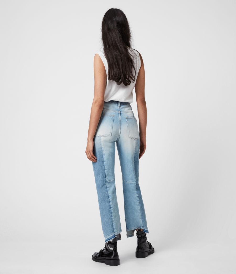 Womens Kim Two-Tone High-Rise Jeans, Mid Indigo (mid_indigo) - Image 7