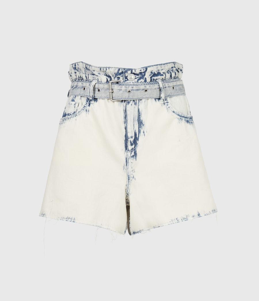 Femmes Filly High-Rise Paperbag Denim Shorts (bleach_indigo) - Image 2