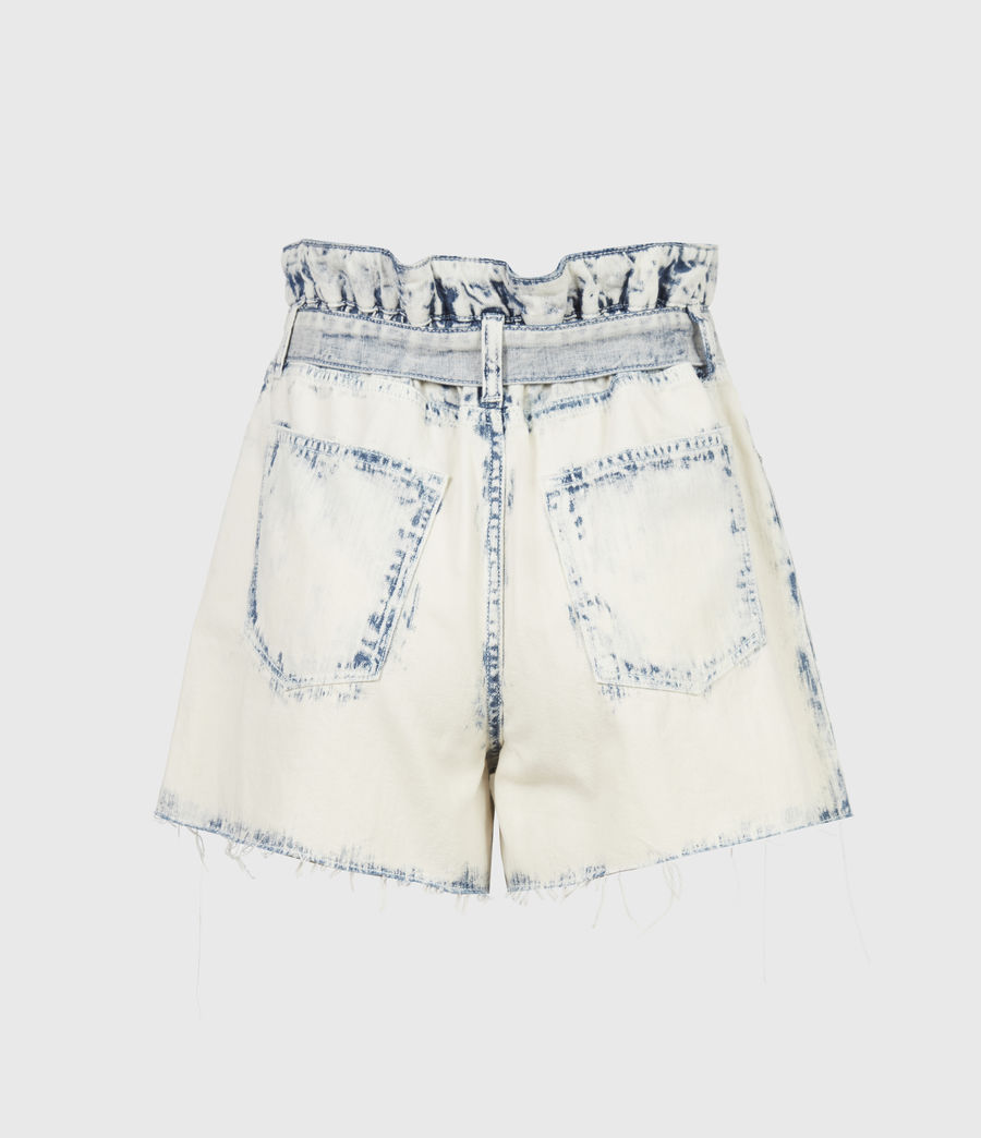 Femmes Filly High-Rise Paperbag Denim Shorts (bleach_indigo) - Image 3