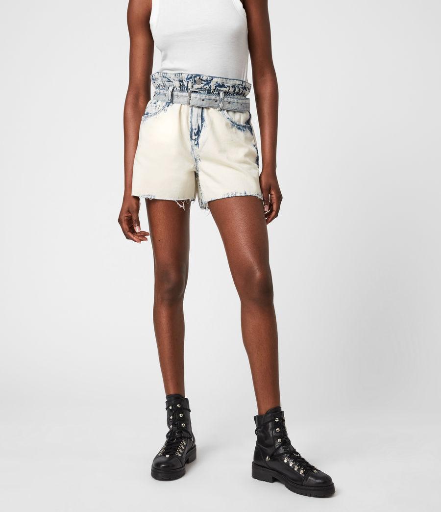 Femmes Filly High-Rise Paperbag Denim Shorts (bleach_indigo) - Image 4