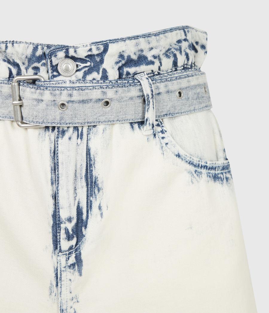 Femmes Filly High-Rise Paperbag Denim Shorts (bleach_indigo) - Image 5