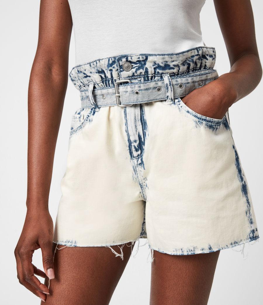 Femmes Filly High-Rise Paperbag Denim Shorts (bleach_indigo) - Image 6