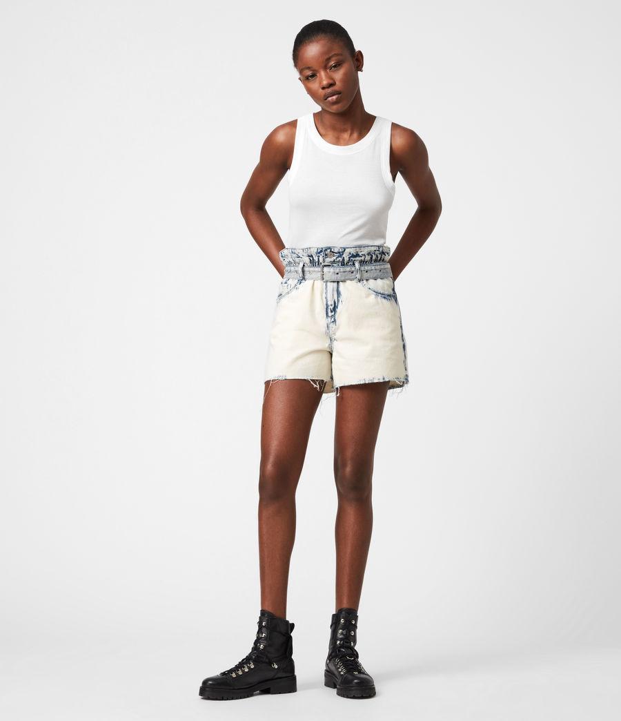 Femmes Filly High-Rise Paperbag Denim Shorts (bleach_indigo) - Image 7