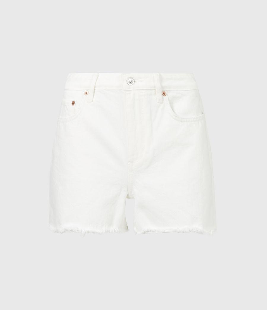 Women's Sandy Mid-Rise Denim Shorts (white) - Image 2